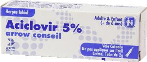 Aciclovir arrow conseil 5%, crème