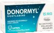 Donormyl 15 mg, comprimé pelliculé sécable